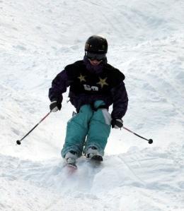 Skiing the bumps! Panorama 2011