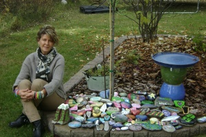 Painted Rocks under our WillBilly Tree