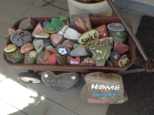 Rocks the boys and I painted