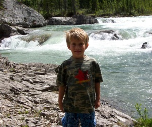 Willy at Elbow Falls... on the Elbow River