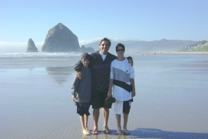 Will, Murray, and Ben at Cannon Beach, Oregon (July 2010)
