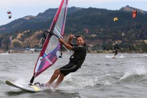 Dad doing what he loves so very much in Hood River