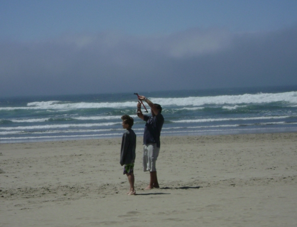 Will and Murray on Cannon Beach, Oregon.  Summer 2010