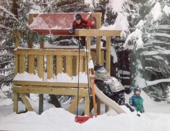 My three boys loving the snow!