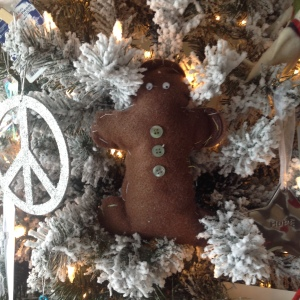 My favourite gingerbread boy.  The one you made.