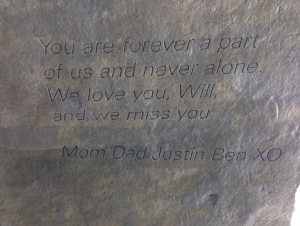 Our family message engraved on the back