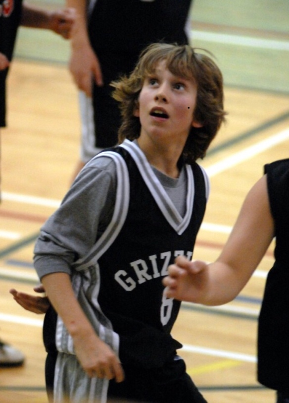 Will playing basketball. Grade 7